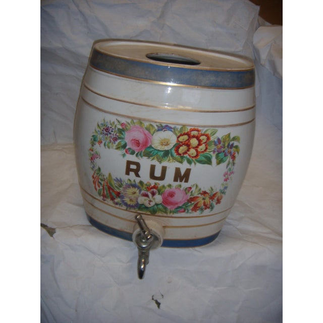 Old Ornate English Pub Porcelain Rum Dispenser - Image 2 of 6