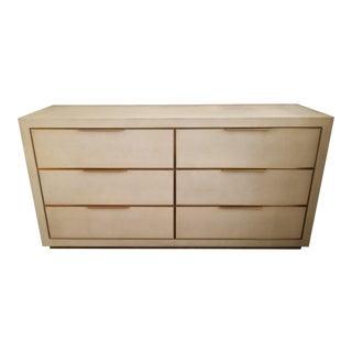 Restoration Hardware Cela Shagreen 6 Drawer Dresser For Sale