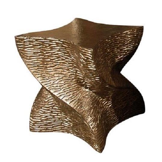 Modern Paul Marra Twist Side Table For Sale - Image 9 of 9