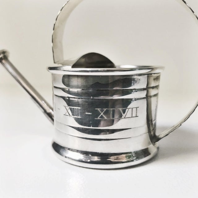Art Deco 1947 Cartier Sterling Silver Watering Can Vermouth Dripper For Sale - Image 3 of 7
