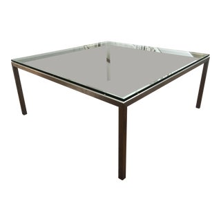 Room & Board Portica Modern Glass Coffee Table For Sale