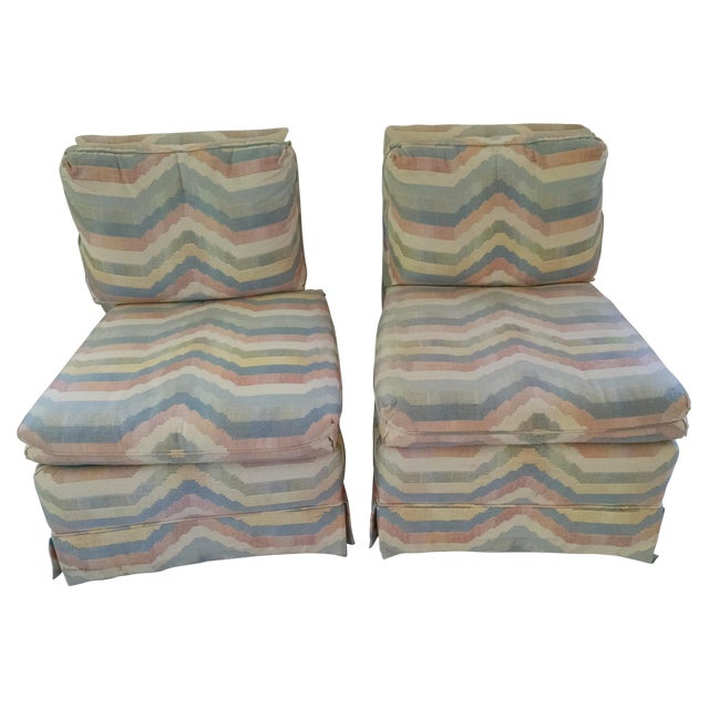 Hickory Slipper Chairs - A Pair - Image 1 of 5