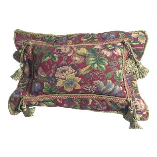 1980s European Tapestry Pillow For Sale