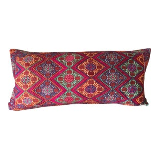 Antique Swati Embroidered Textile Pillow For Sale