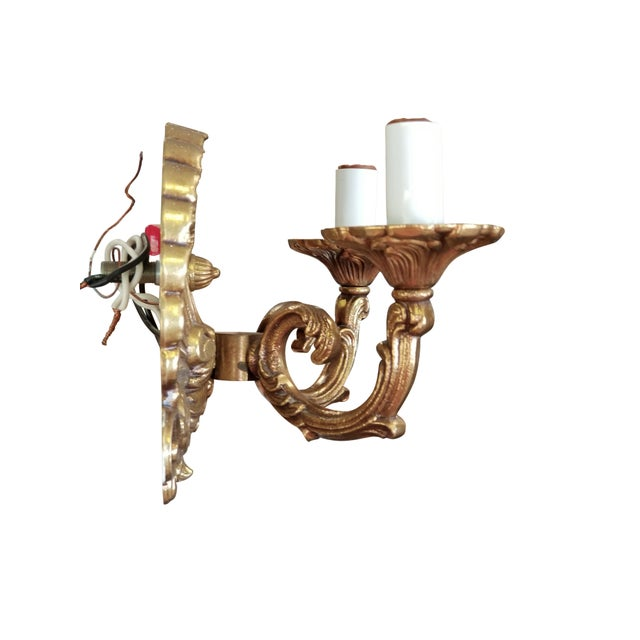 Neo-Rococo Spanish Sconces, a Pair For Sale - Image 4 of 7