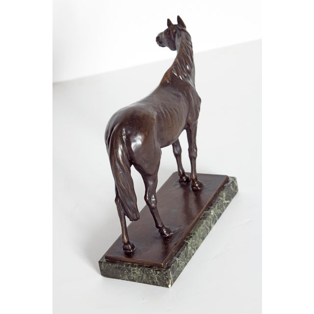 Early 20th Century Austrian Bronze Standing Horse by Ferdinand Lugerth For Sale In Dallas - Image 6 of 13