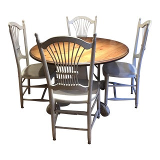 French Country Style Wood Dining Set