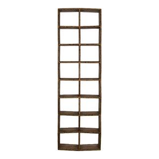 Noir Brown Zig Zag Bookcase/Etagere For Sale