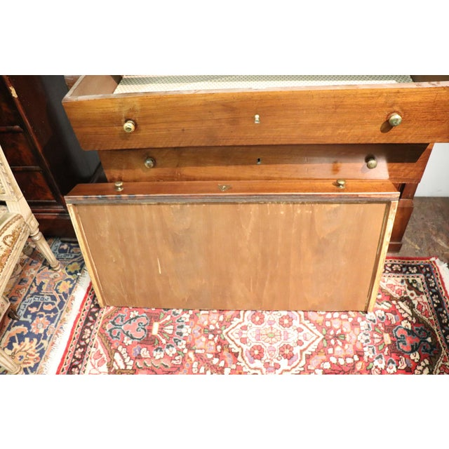 Brown 19th Century Italian Empire Walnut Commode or Chest of Drawers For Sale - Image 8 of 10