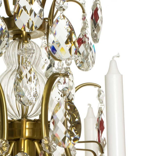 Baroque Baroque Six-Light Chandelier For Sale - Image 3 of 11