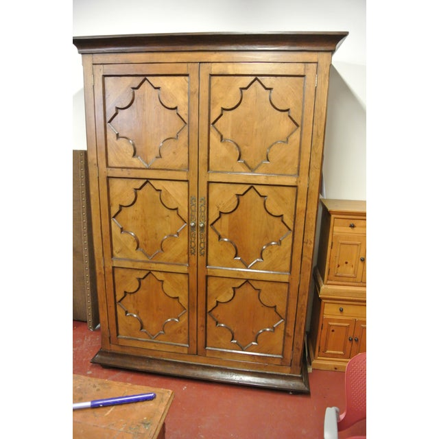 Jean Michel Arrigona Alder Wood Carved Armoire - Image 2 of 8