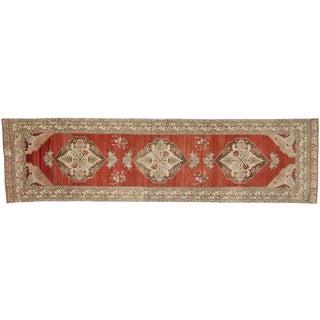 Vintage Turkish Oushak Runner - 3′7″ × 13′2″ For Sale