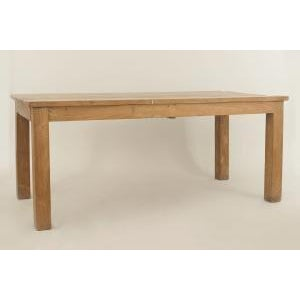 American Country Rustic style (20th Cent) rectangular chestnut colored dining table supported on large square legs