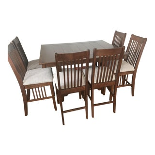 Traditional Mitchell Gold + Bob Williams Dining Set - 7 Pieces For Sale