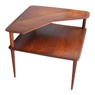 """1960s Teak """"Minerva"""" End Table by Peter Hvidt and Orla Molgaard-Nielsen For Sale"""