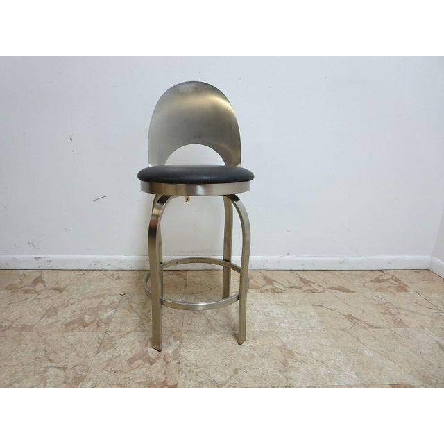 Mid-Century Metal Industrial Stool For Sale - Image 10 of 10