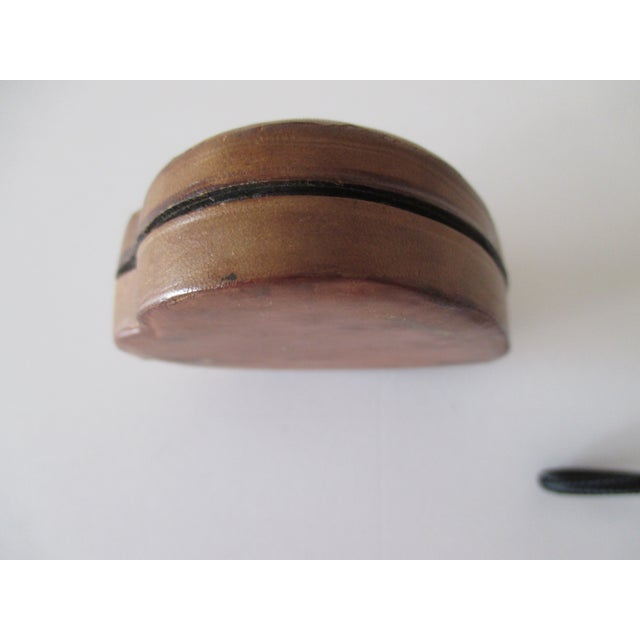 Traditional Vintage Florentine Heart Shaped Embossed Leather Trinket Box For Sale - Image 3 of 5
