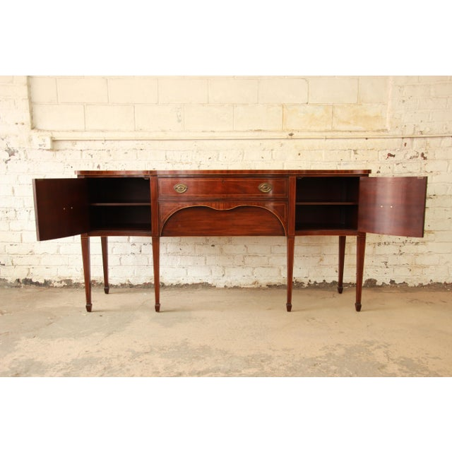 Kittinger Kittinger Hepplewhite Inlaid Mahogany Sideboard Buffet For Sale - Image 4 of 11