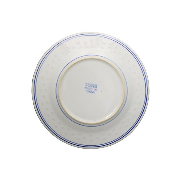 """Chinese """"Blue Rice"""" Dragon Plates For Sale - Image 4 of 5"""