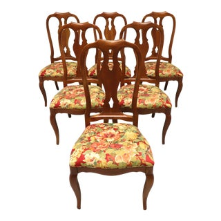 Ethan Allen French Country Dining Side Chairs - Set of 6 For Sale