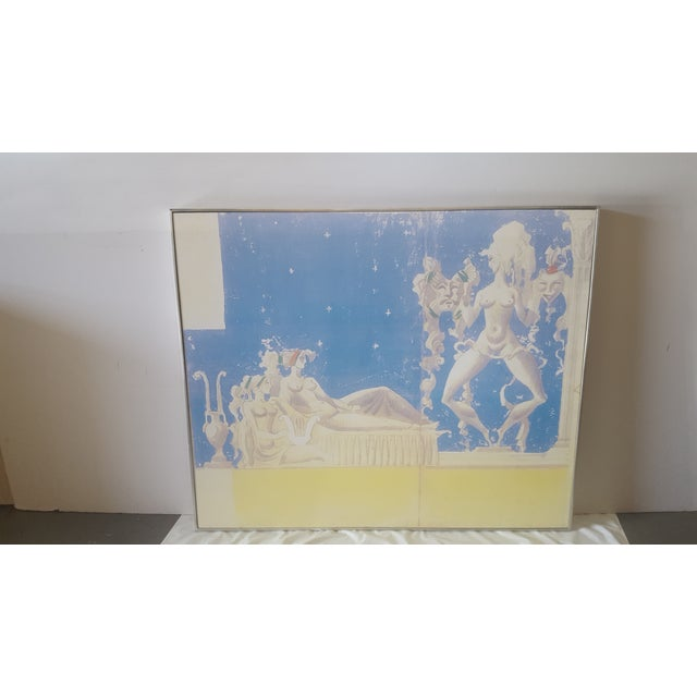 2010s Large Scale William Haines Canvas 2 Mural For Sale - Image 5 of 5
