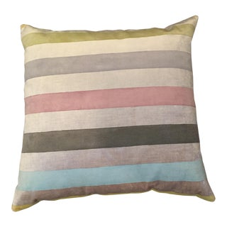 "Room & Board Galbraith & Paul Multicolors Striped 22"" Square Pillow For Sale"