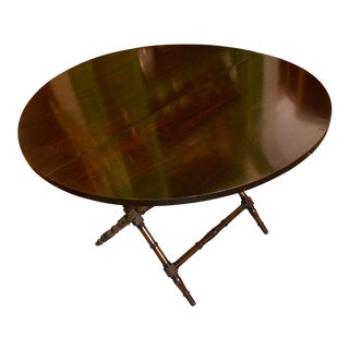Vintage Folding Coaching Table For Sale