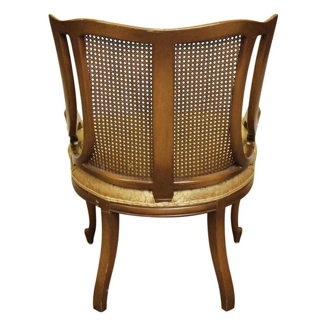 Upholstered Wicker Back Chairs - A Pair For Sale - Image 5 of 10