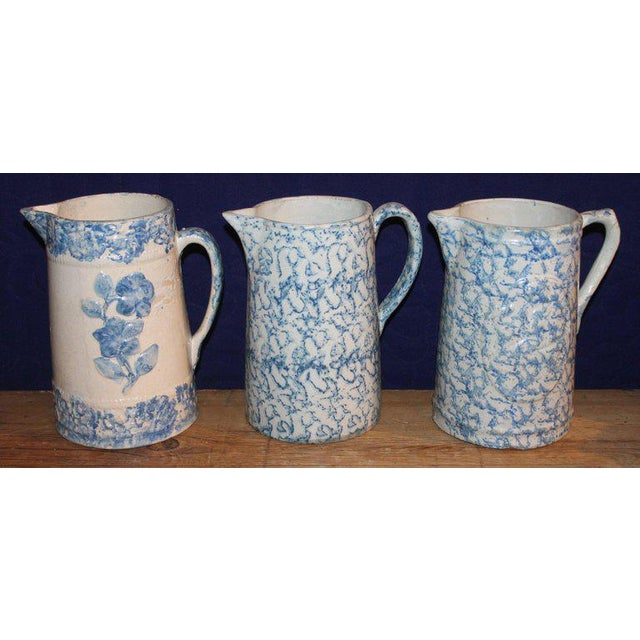 Early 20th Century 19th Century Sponge Ware Pitchers, Nine Pcs. Collection For Sale - Image 5 of 13