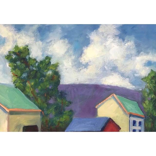 "American Original ""Streak of Morning Light"" Landscape Oil Painting For Sale - Image 3 of 5"