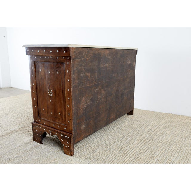Moorish Pearl Inlay Carved Wedding Chest of Drawers For Sale - Image 12 of 13