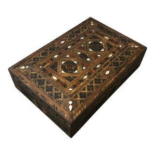 Mid-Century Middle Eastern Vintage Mosaic Box For Sale