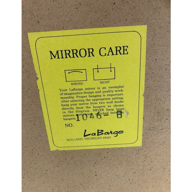 Glass Labarge Chinoiserie Wall Reverse Painted Mirror For Sale - Image 7 of 7