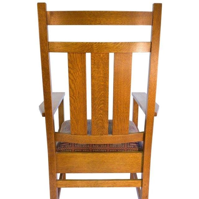 Stickley Harvey Ellis Oak Art & Crafts Chairs - Pair - Image 5 of 9