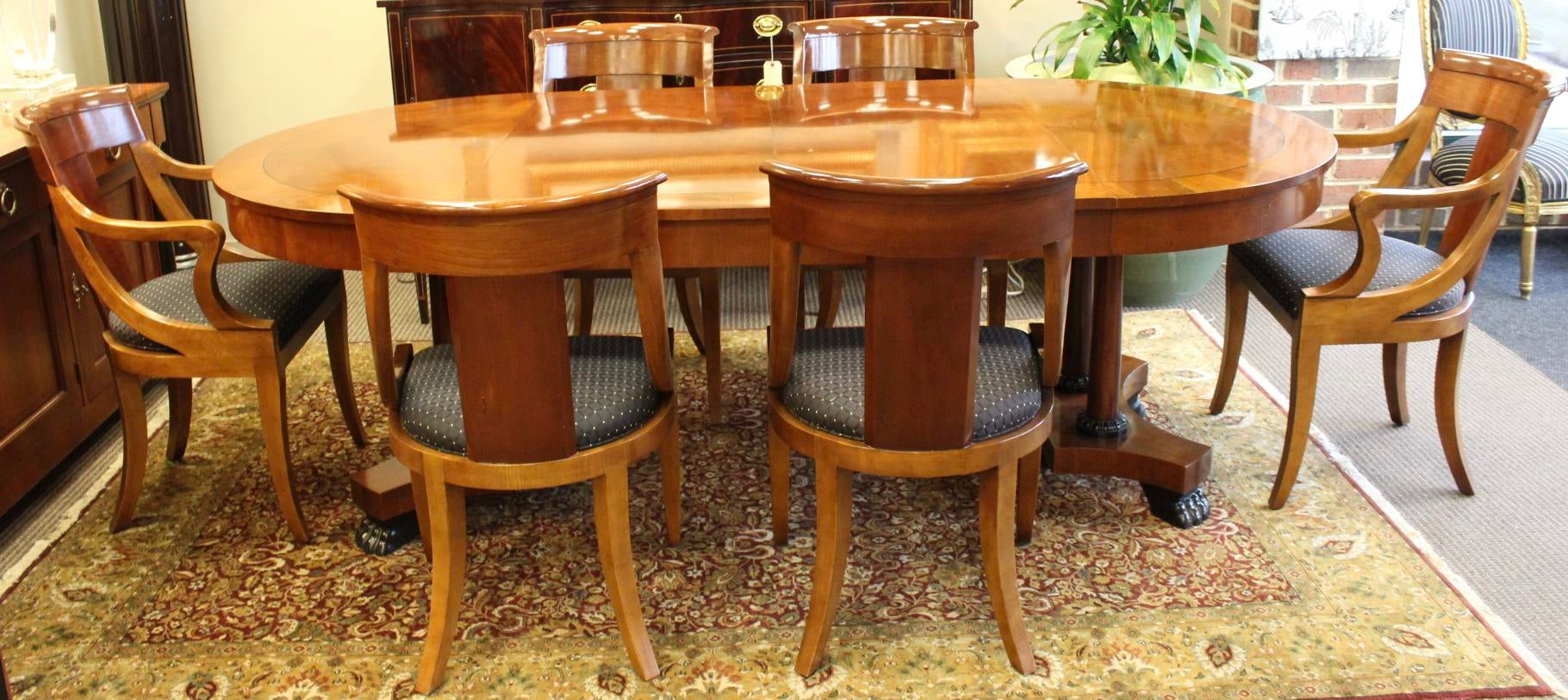 Hollywood Regency Baker Dining Table 6 Chairs Chairish