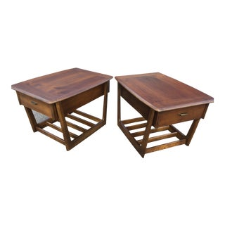 Mid-Century Bassett Astra End Tables - a Pair