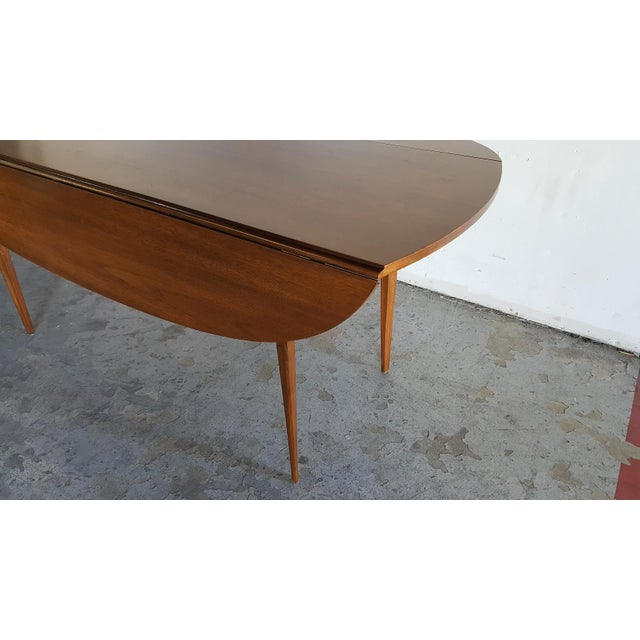 Broyhill Brasilia Walnut Drop Leaf Dining Table - Image 7 of 11