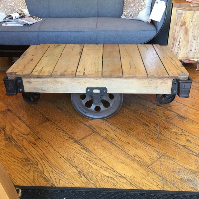 Cart Coffee Table Restoration Hardware.Restoration Hardware Furniture Factory Cart Coffee Table