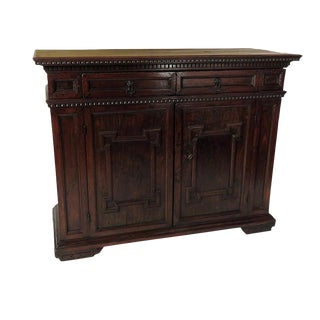 Traditional Carved Walnut Credenza
