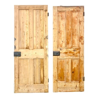 Rustic Solid Wood Interior Doors - a Pair For Sale