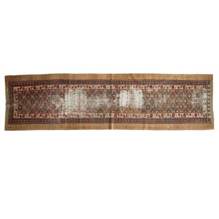 "Antique Caucasian Rug Runner - 3'4"" X 12'3"" For Sale"