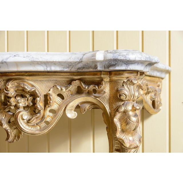 Traditional French, Gilt Console Table For Sale - Image 3 of 9