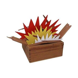 """Tom Trubshaw """"Exploding Box No. 1"""" Sculpture For Sale"""
