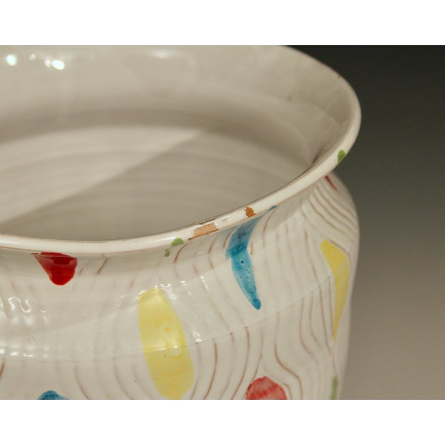 Vintage Large 1960's Raymor Italian Pottery Vase For Sale - Image 4 of 10