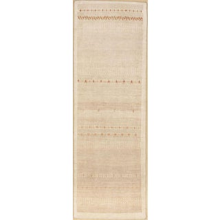 """Indian Hand-Knotted Loribaft Rug - 2'7""""x 7'7"""" For Sale"""