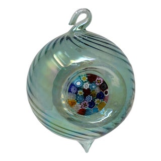 Green Christmas Ornament From Murano For Sale