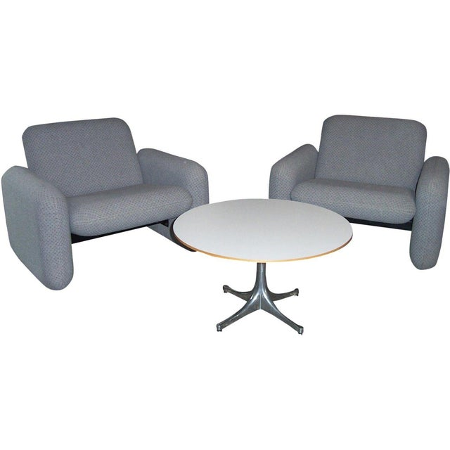 Herman Miller Chiclet Chairs & Table - Set of 3 For Sale