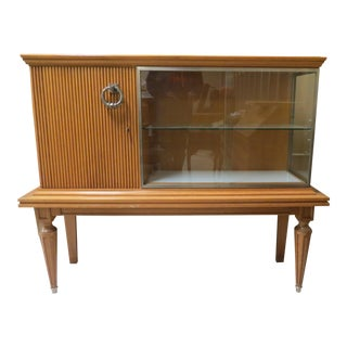 Mid Century Display Cabinet, Curio Cabinet or Bar For Sale