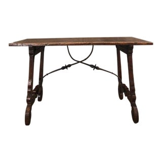 18th C. Walnut Spanish Table For Sale