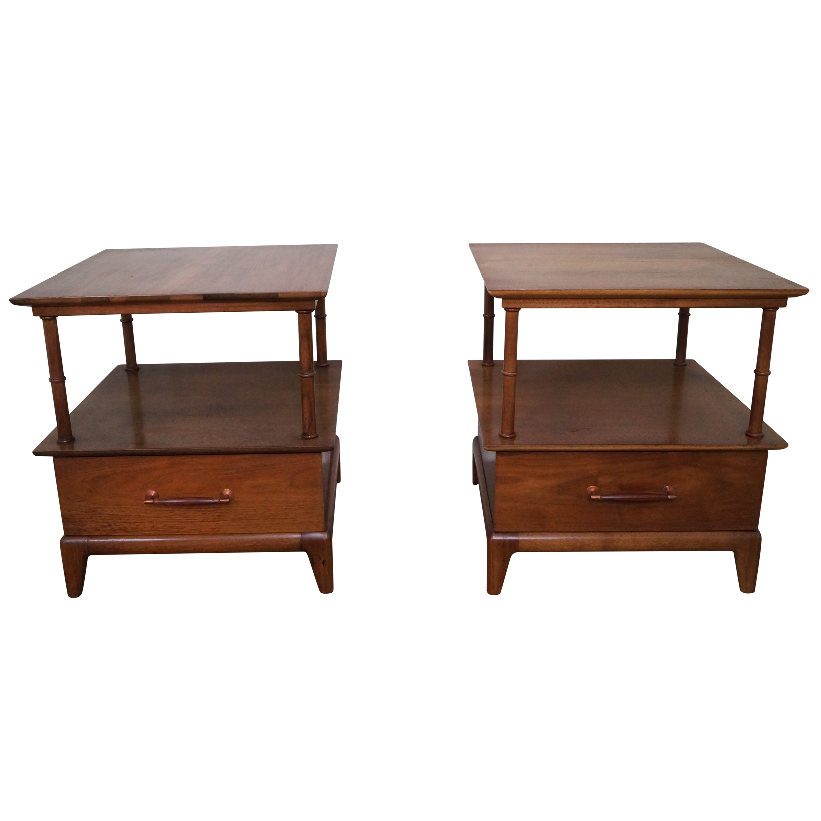 Heritage Henredon Mid Century End Tables Chairish